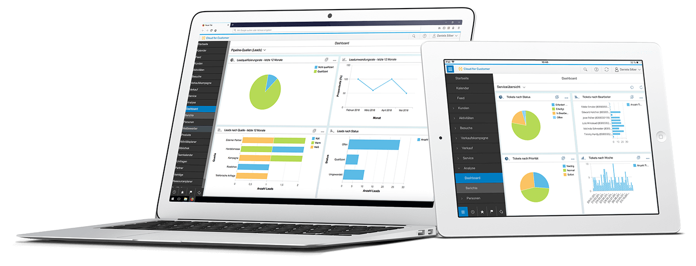 SAP Hybris Cloud for Customer C4C SAP Sales Cloud Dashboard C/4HANA